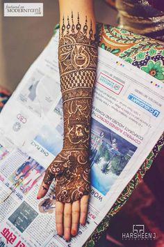 bridal henna, south asian bride, mehendi