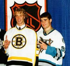 A little Throw Back Thursday action in honor of tonights matchup between the San Jose Sharks & Boston Bruins...Joe Thornton...Patrick Marleau