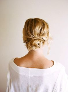 LOVE this back for updo -- knotted look