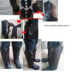 loki cosplay boots by sasukeharber.deviantart.com on @deviantART