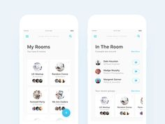 My Rooms (Groups) & In The Room (Home) Page Designs by Nimasha Perera #Design Popular #Dribbble #shots