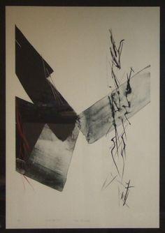 Toko Shinoda 篠田 桃紅 Yamato and Monogatari lithographs listed Japanese artist by ElegantPossessions on Etsy