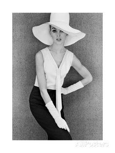 Outfit and White Hat, 1960s Giclee Print by John French at AllPosters.com