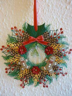 12 inch diameter Christmas wreath using Tonic Studios create a wreath dies and…