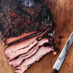 In Texas, barbecue is about beef: specifically brisket, the cut by which any joint is judged. Brisket has become a favorite of restaurant chefs, too, hence the smoke ribbons and Hank Williams songs drifting out of restaurants as far away as Brooklyn. Traeger Recipes, Grilling Recipes, Beef Recipes, Barbecue Recipes, Healthy Recipes, Bbq Brisket, Smoked Beef Brisket, Texas Brisket, Carne Asada