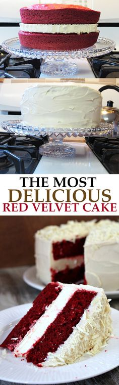 Delicious and moist red velvet cake! Perfect for birthday parties, Valentine's Day and just about any holiday!