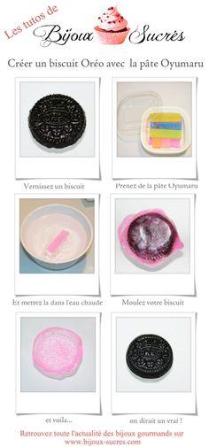 Créer un oreo en pâte polymère avec de l'oyumaru  Bijoux Sucrés