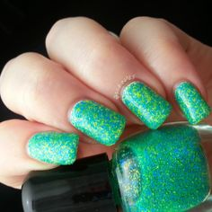 BeginNails: Every Journey Has a Beginning: Love, Angeline's Rainforest of the Sea Collection Swatches and Review Part 1.  Plankton swatched by @Beginnails (Kristi).