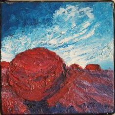 "Saatchi Art Artist GULSEREN YALÇINTAŞ; Painting, ""Red Stone"" #art"