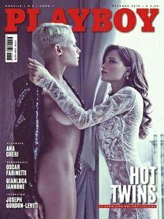 Giulia Provvedi, Silvia Provvedi - Playboy Magazine Cover [Italy] (October 2015)