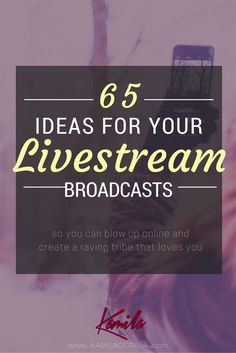 In this post, you'll get loads of topics for your Facebook Live broadcasts and Periscope livestreams, so that you never run out of ideas for your livestream marketing strategy (and you can turn your strangers into total raving fans, in no time!) BIG NEWS! Livestreaming all the rage and it shows no signs of stopping. Facebook …