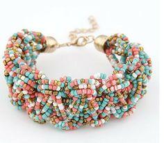 C092 Fashion women temperament of the bead weaving bracelets bangles free shipping US $2.75