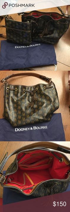 Dooney & Bourke Hobo bag 1975 edition Like new 1975 Edition Dooney & Bourke Hobo bag with red lining Dooney & Bourke Bags Hobos