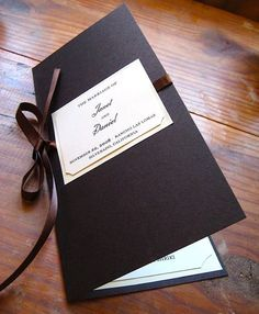 Slim, Bifold Invitation