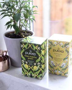 New regime thanks to @jessicavalentineuk  Morning tea not coffee #turmeric #matcha @pukkaherbs #kitchenwindow #tea