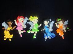 Disney Fairies Dance Party perler beads by RiverNaiad