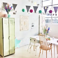 Photoshoot for last @101woonideeen...with our Best of the Past- Industrial Vintage locker (beautiful pistachio green) and vintage Czech industrial poster with soft pastels. Love it! Too bad it's the magazines last edition... Instagram photo by @floorroelvink (floorroelvink)