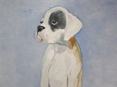 Oil on Canvas Dog Paintings Ready to Hang by RichardHarveyAllsop