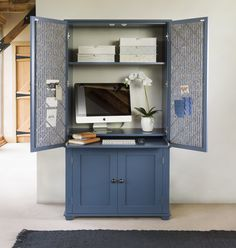 New England home office armoire