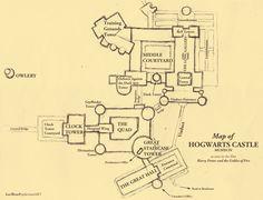 Map of Hogwarts - draft I by leethree9.deviantart.com on @deviantART