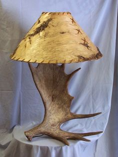 Moose Antler Table Lamp | ... Tables,rustic Kitchen,farm Table,