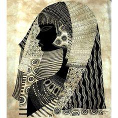 Love the detail in the Heidi Lange piece of wall art. Malindi Girl' Heidi Lange Screen Print from ArtisansExchange.org