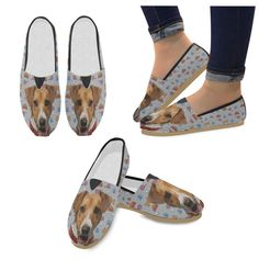 d17074bda5f9  TeeAmazing -  e-joyer Rhodesian Ridgeback Dog White Men s Classic Canvas  Shoes - AdoreWe.com