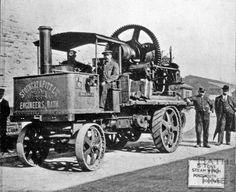 Stothert & Pitt first steam wagon used by S&P Vintage Tractors, Old Tractors, Vintage Trucks, Cool Trucks, Big Trucks, Steam Tractor, Old Farm Equipment, Road Transport, Rail Car