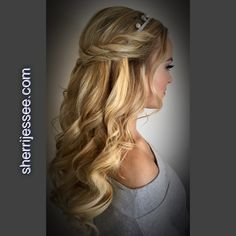 #promhair #prom #halfup #curls #braids #bohemian #musicfestival #beautifulhair www.sherrijessee.com #blonde Hair And Makeup Artist, Hair Makeup, Beautiful Inside And Out, Beauty Queens, Prom Hair, Blondes, Redheads, Curls, Stylists