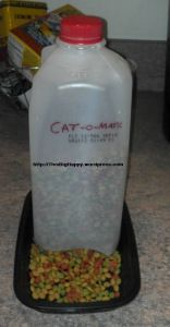 DIY automatic cat feeder                                                                                                                                                                                 More