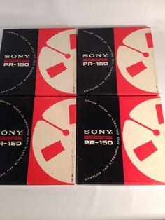 "4 Vintage Sony Professional Recording Tape PR-150 1800 Ft 7"" Reel to Reel #Sony"