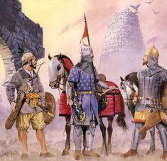 Туркоманский (Turcoman) воин, тюрок Азербайджана и грузинский воин