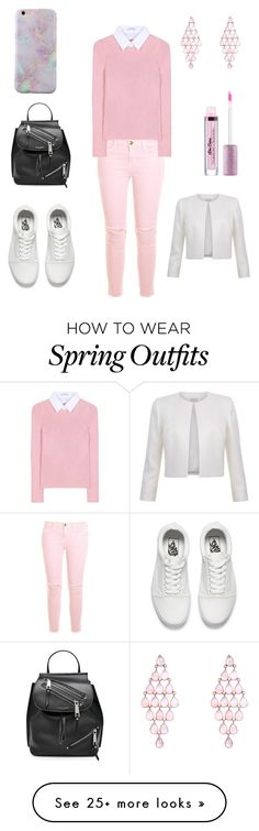 """Pink outfit,teen,style,spring"" by jovana-02 on Polyvore featuring Current/Elliott, Altuzarra, Vans and Marc Jacobs"