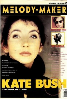"""Kate Bush on the cover of """"Melody Maker"""" magazine, United Kingdom, October 21st 1989."""