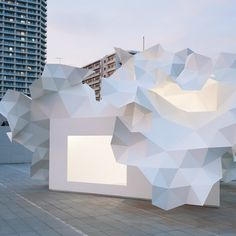 The mysterious yet graceful white box, with it's mesmerising, almost pixelated extrusion, will play host to a series of cultural programs for young artists...