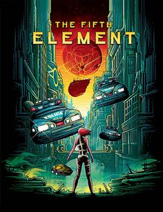 The Fifth Element - movie poster - Dan Mumford