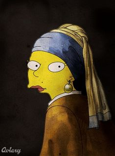 7 Famous Works of Art Remade, Simpsons-Style
