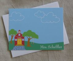 Personalized Notecards  Teacher by pedalingdesigns on Etsy, $15.00 Perfect for Teacher Appreciation Day!