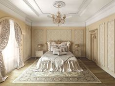 BV DECOR mouldings, cornices and ceiling roses for interior decoration. #mouldings #cornices #ceiling_roses #interior #bedroom #spain #madrid #palma