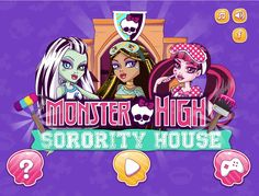 Have an amazing time playing this fab new game called Monster High Sorority House and help your favorite ghouls cleanup the mess Torelai made! Games For Girls, New Girl, Monster High, Sorority, Jealous, Drawings, Toilet Paper, Cover, Students
