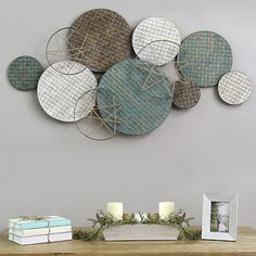 Stratton Home Decor Woven Plates Abstract Metal Wall Art, Color: Multi - JCPenney Tv Cabinet Design, Abstract Metal Wall Art, Unique Wall Art, Coastal Farmhouse, African Safari, Wall Sculptures, Wall Ideas, Living Room Designs, Portugal