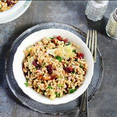Farro Salad with Artichoke Hearts - a perfectly healthy and satisfying salad.