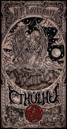 Necronomicon Lovecraft, Lovecraft Cthulhu, Hp Lovecraft, Cthulhu Tattoo, Cthulhu Art, Call Of Cthulhu, Dark Fantasy Art, Dark Art, Witchy Wallpaper