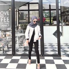 ideas for fashion hipster girl clothes Casual Hijab Outfit, Hijab Chic, Muslim Fashion, Modest Fashion, Hijab Trends, Hijab Fashion Inspiration, Girl Outfits, Fashion Outfits, Mode Hijab