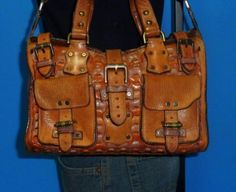 9a639e3a6cb MULBERRY-ROXANNE-Buckle-Small-Brown-Woven-Leather-Satchel-Shoulder-Purse-Bag