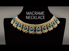 Beaded Macramé Necklace TUTORIAL in Boho Style | DIY - YouTube