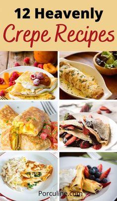 Easy Crepe Recipe, Crepe Recipes, Fruit Recipes, Brunch Recipes, Healthy Recipes, Breakfast Crepes, Andiamo, Bistro Food, Cooking