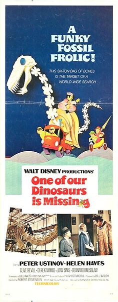 One Of Our Dinosaurs Is Missing Disney Movie Poster 1975