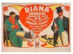 Diana sosborszesz plakat Karoly korut 5. Retro Kids, Provence Style, Poster Ads, Budapest Hungary, Vintage Posters, Diana, Humor, Classic, Postcards