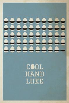 Cool Hand Luke (1967) minimalist movie poster